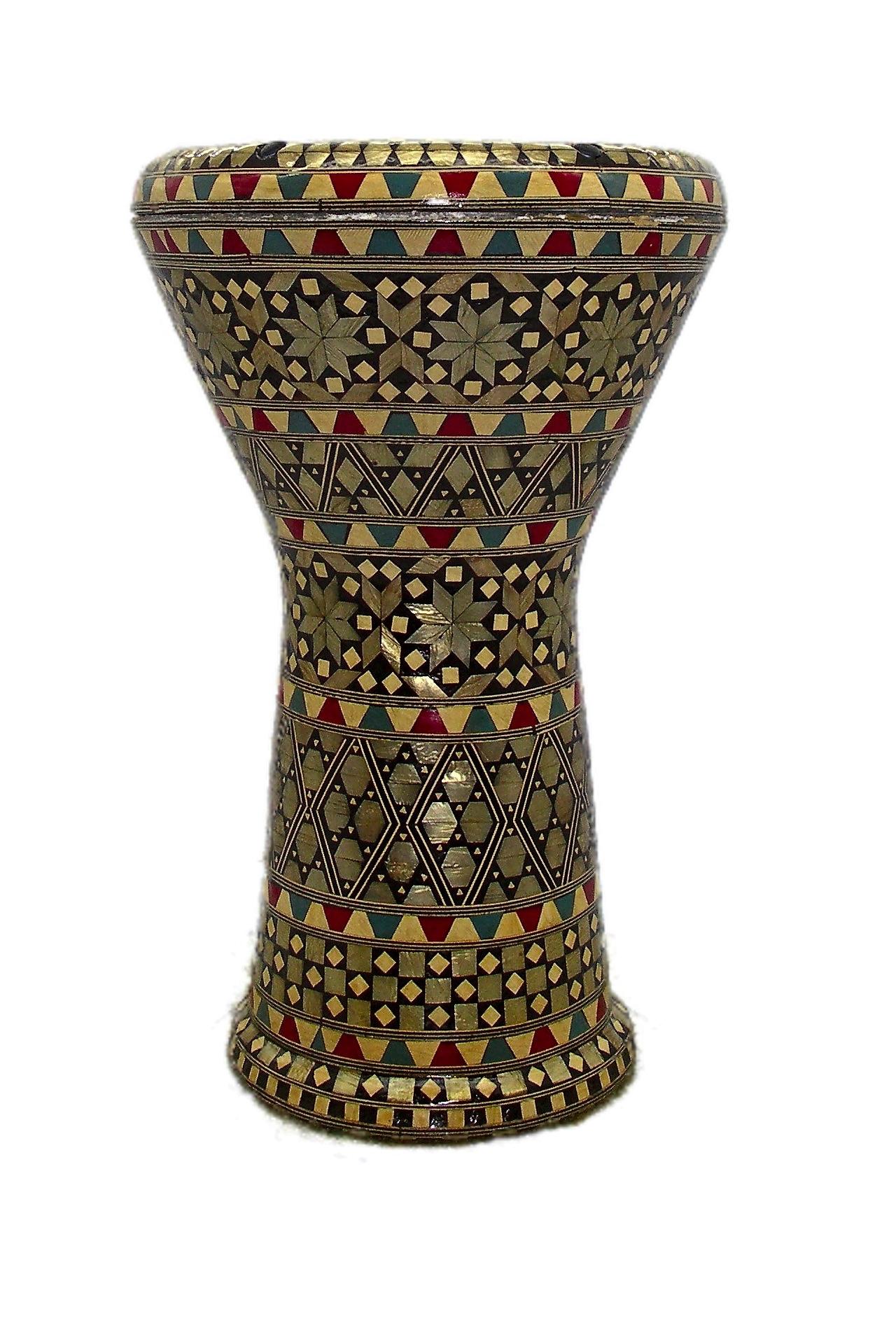 Egyptian-Eighties-MOP-RedBlueWhite-Opaque-Rhythm-Fusion-Head-Darabuka