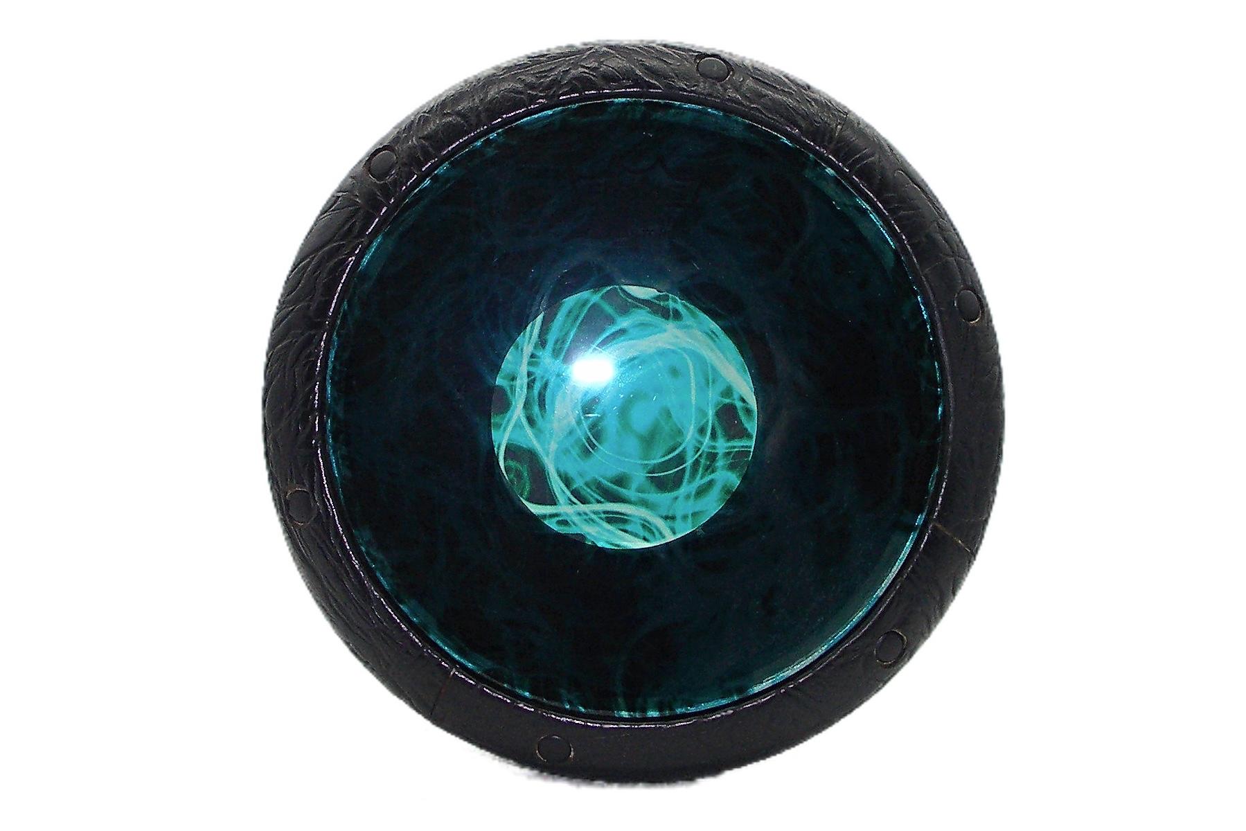 Egyptian-GEF-Black-Vinyl-Turquoise-Mist-Cleartone-Head-Darabuka