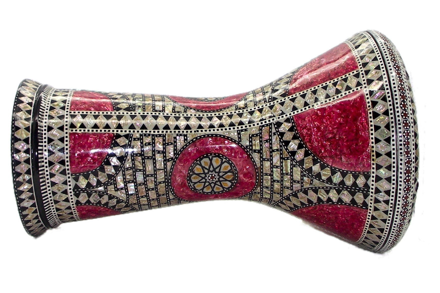 Egyptian-GEF-MOP-Pink-Black-Mitello-Head-Darabuka