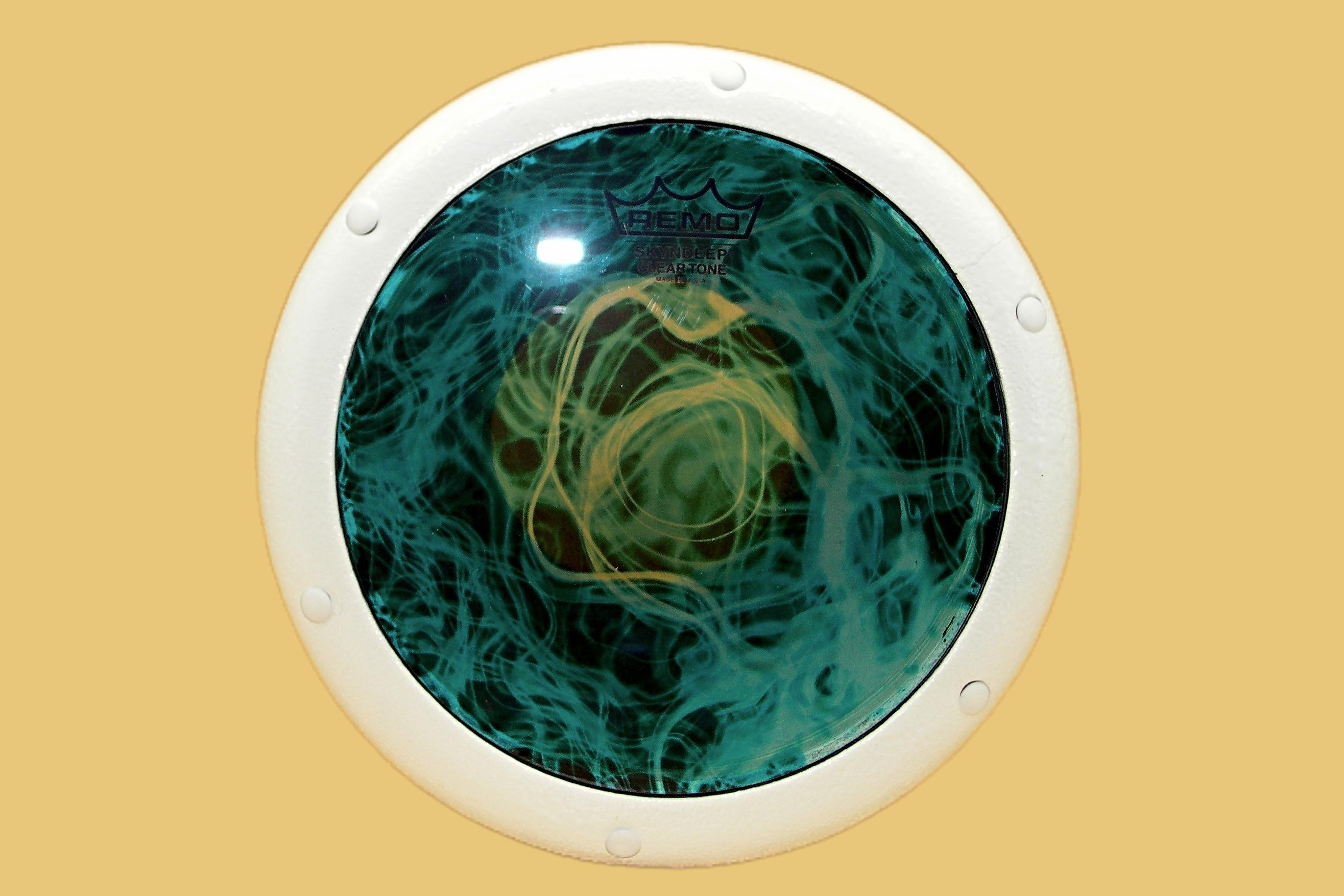 Egyptian-Unknown-White-Turquoise-Mist-Cleartone-Head-Darabuka